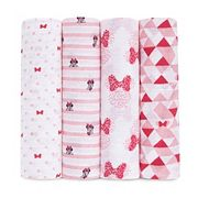 Disney's Minnie Mouse 4 pkSwaddling Wraps from aden by aden + anais