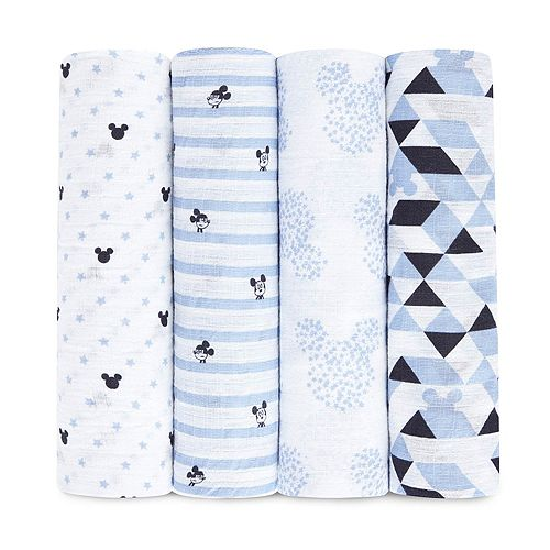 Disney's Mickey Mouse 4-pk. Swaddling Wraps from aden by aden + anais