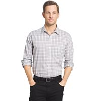 Big & Tall Van Heusen Traveler Classic-Fit Plaid Non-Iron Stretch Button-Down Shirt