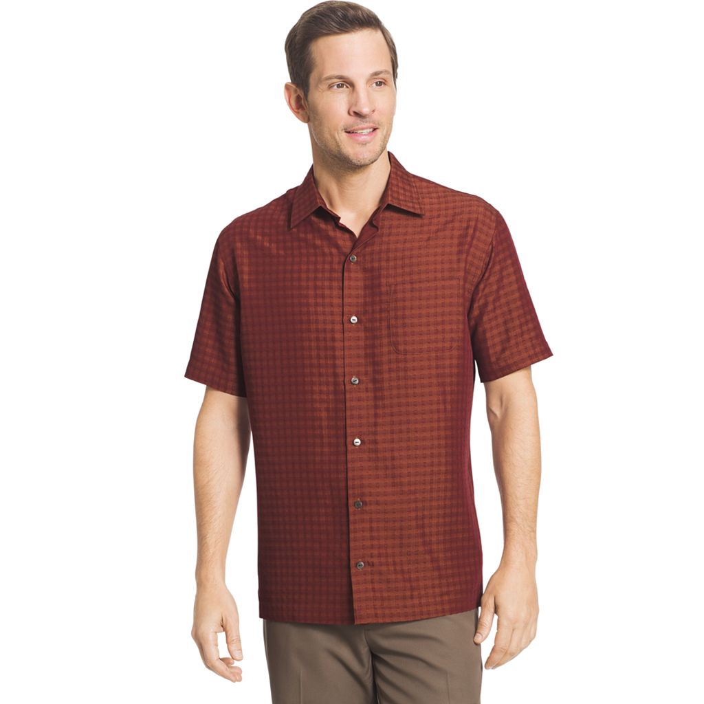 Big & Tall Van Heusen Classic-Fit Grid Button-Down Shirt