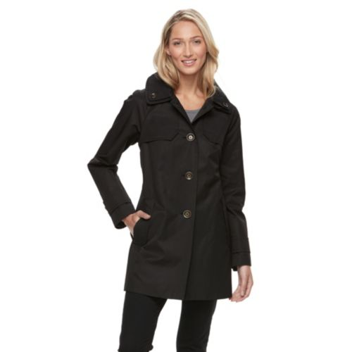 Womens Towne By London Fog Button Down Jacket