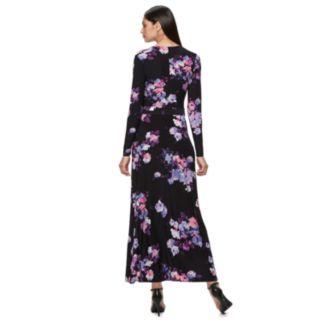 Women's Jennifer Lopez Faux-Wrap Maxi Dress