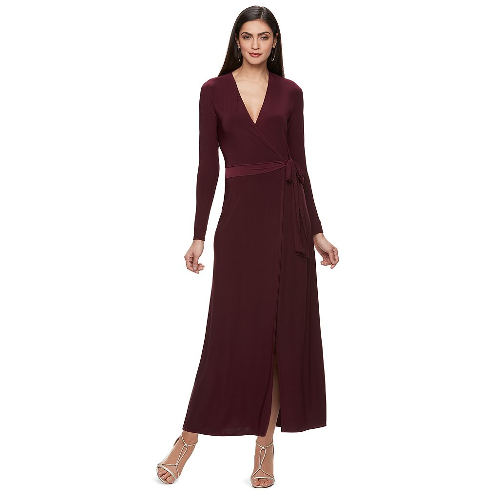 Women's Jennifer Lopez Faux-Wrap Maxi Dress