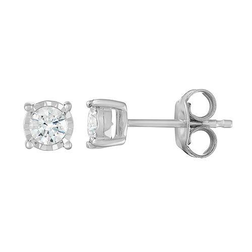 14k White Gold 1/4 Carat T.W. Diamond Stud Earrings