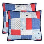 Lullabye Bedding Airplanes 2-pack Quilted Euro Sham Set