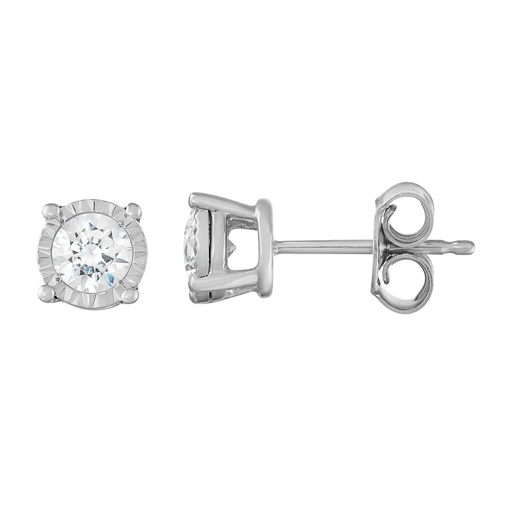 14k White Gold 1/2 Carat T.W. Diamond Stud Earrings