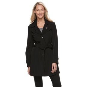 Women's Towne by London Fog Hooded Trench Coat