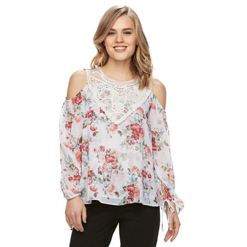 Disney's Beauty and the Beast Juniors' Cold Shoulder Top