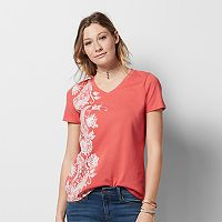 Women's Graphic V-Neck Tee