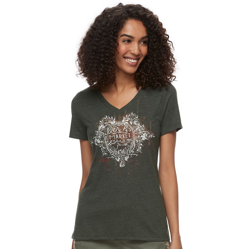 Women's SONOMA Goods for Life™ V-Neck Graphic Tee