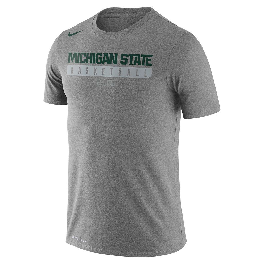 Men's Nike Michigan State Spartans Basketball Practice Dri-FIT Tee
