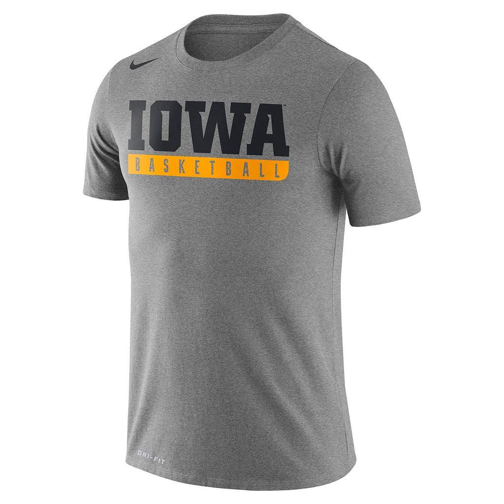 Men's Nike Iowa Hawkeyes Basketball Practice Dri-FIT Tee