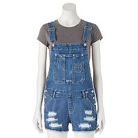 Juniors' Unionbay Destructed Jean Shortalls