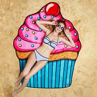 Big Mouth Inc. Giant Cupcake Microfiber Beach Blanket