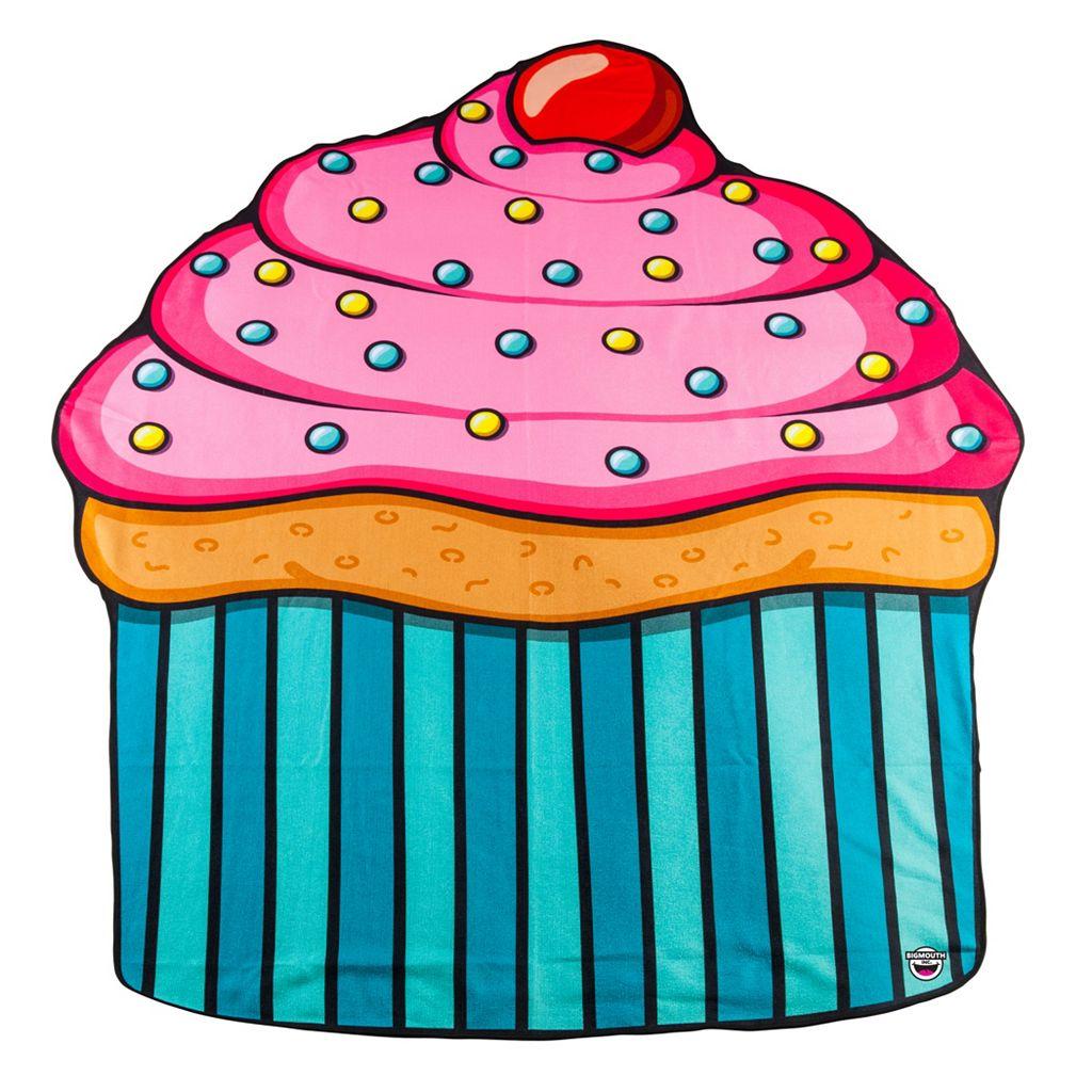 Big Mouth Inc. Giant Cupcake Microfiber Beach Blanket