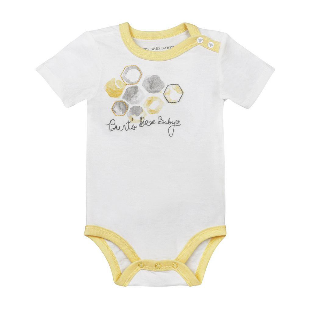 Baby Burt's Bees Baby 2-pk. Organic Watercolor Hive Bodysuits