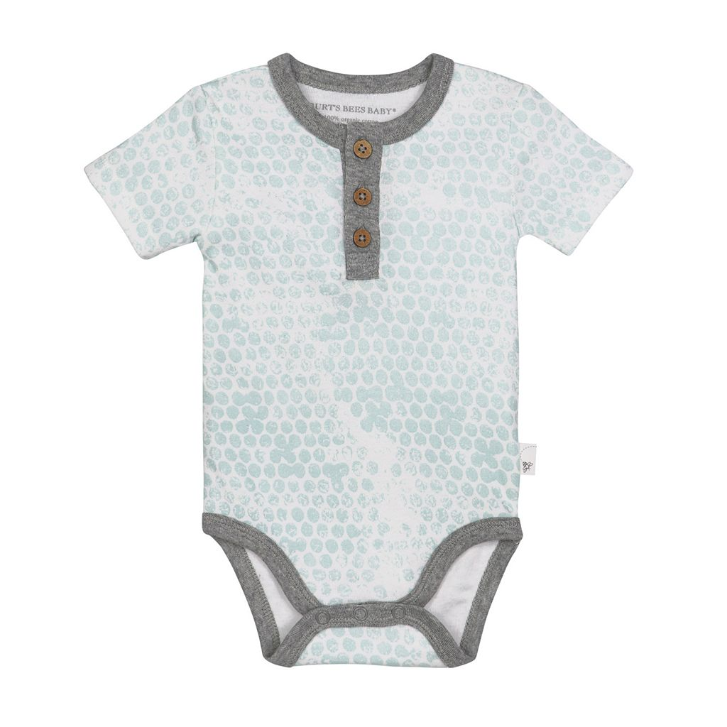 Baby Burt's Bees Baby 2-pk. Organic Honeycomb Print Bodysuits