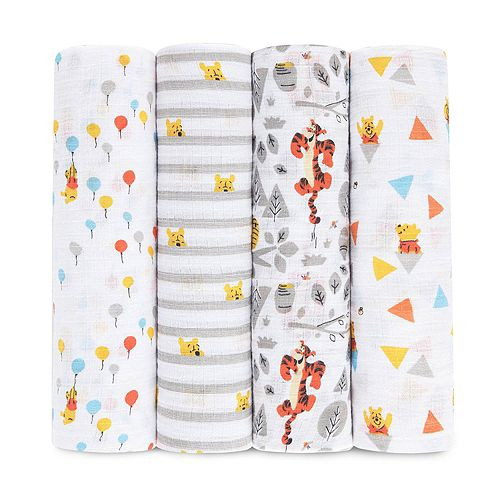 aden by aden + anais 4-pk. Winnie the Pooh Swaddling Wraps