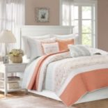 Madison Park 6 pc Vanessa Quilted Coverlet Set