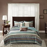 Madison Park 6 pc Harley Quilted Coverlet Set