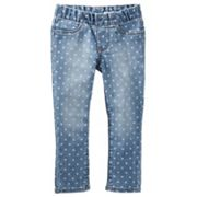 Girls 4-8 OshKosh B'gosh® Polka-Dot Pull-On Denim Pants