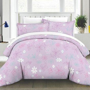 Butterfly Garden Cotton Percale Duvet Cover Set