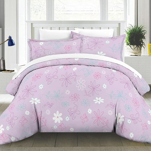 Butterfly Garden Cotton Percale Comforter Set