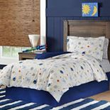 Lullaby Bedding Space Cotton Percale Duvet Cover Set