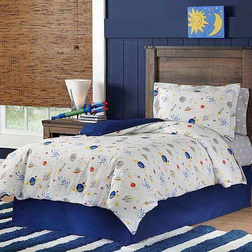Space Cotton Percale Duvet Cover Set