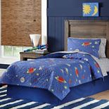 Lullabye Bedding Space Cotton Percale Quilt Set