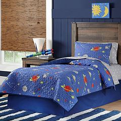 Space Cotton Percale Quilt Set