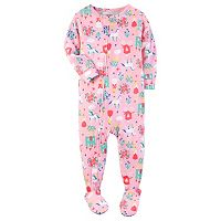 Baby Girl Carter's Print Footed Pajamas