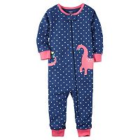 Baby Girl Carter's Polka-Dot Applique Coverall