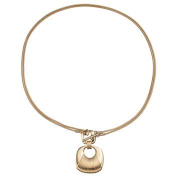 Napier Square Double Strand Toggle Necklace