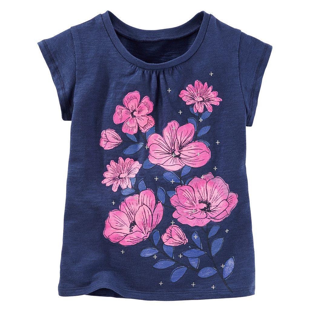 Girls 4-8 OshKosh B'gosh® Floral Graphic Tee