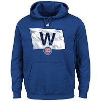 Men's Majestic Chicago Cubs Win Flag Hoodie