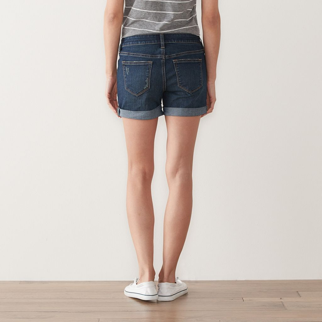 Petite SONOMA Goods for Life™ Jean Boyfriend Shorts