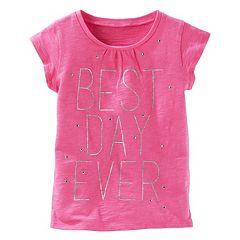Girls 4-8 OshKosh B'gosh® 'Best Day Ever' Glitter Graphic Tee