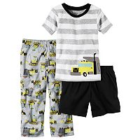 Baby Boy Carter's Striped Tee, Print Pants & Solid Shorts Pajama Set