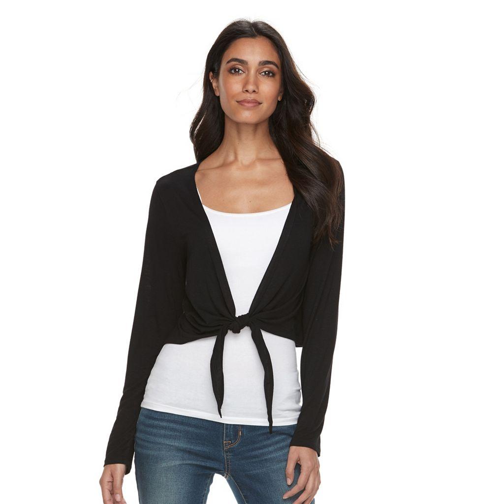Petite Apt. 9® Tie-Front Crop Cardigan
