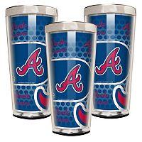 Atlanta Braves 3-Piece Shot Glass Set