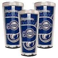 Milwaukee Brewers 3-Piece Shot Glass Set