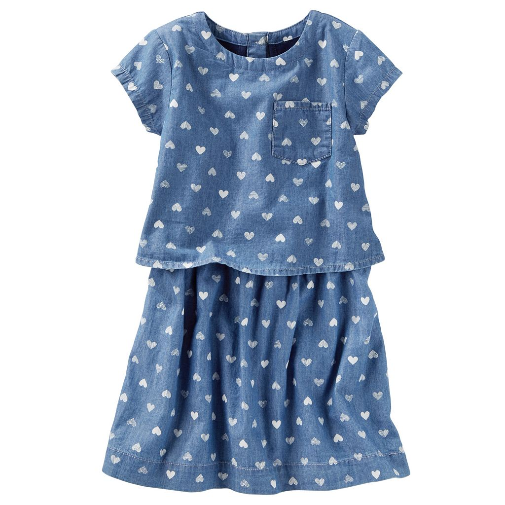 Girls 4-8 OshKosh B'gosh® Denim Heart Dress