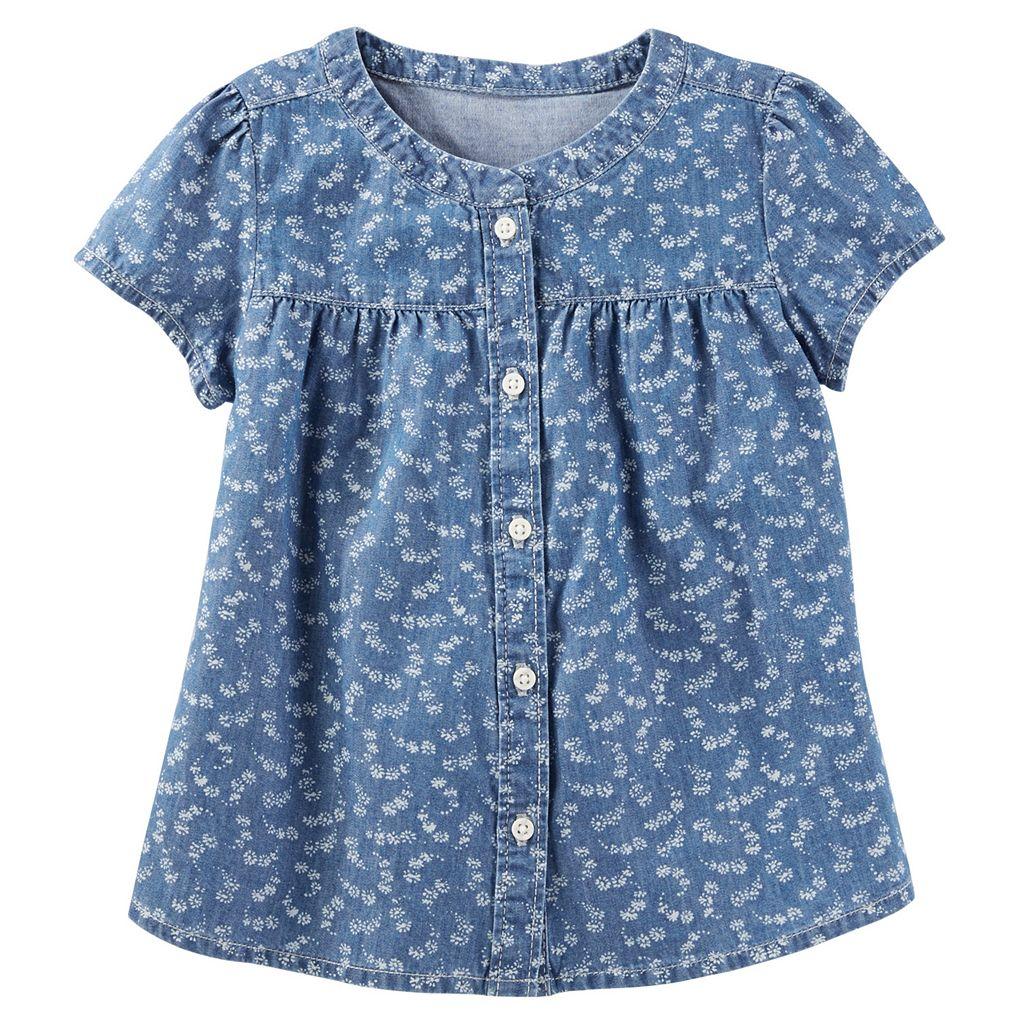 Girls 4-8 OshKosh B'gosh® Floral Chambray Shirt