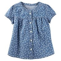Girls 4-8 OshKosh B'gosh® Floral Chambray Shirt