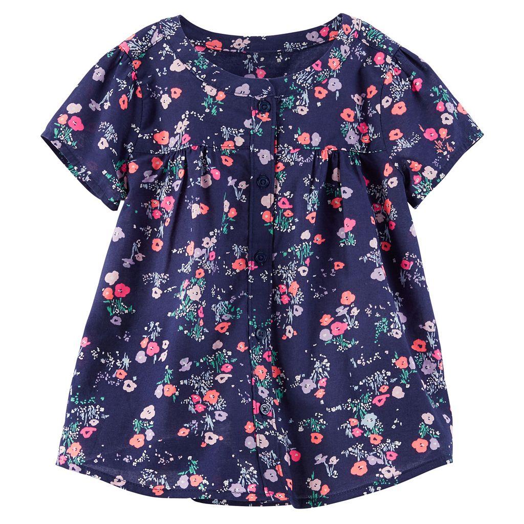Girls 4-8 OshKosh B'gosh® Floral Shirred Shirt
