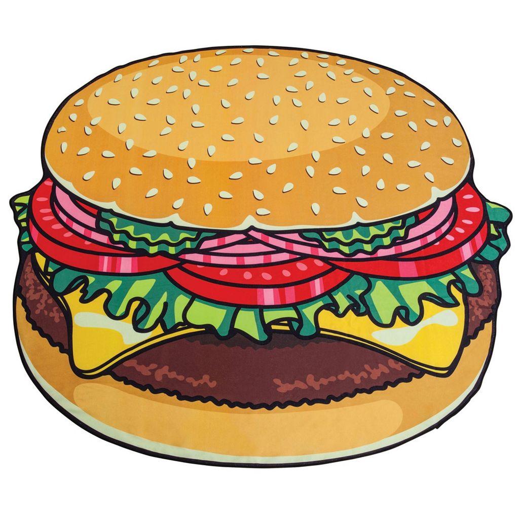 Big Mouth Inc. Giant Hamburger Microfiber Beach Blanket