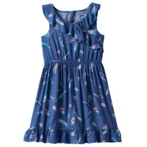 Girls 4-10 SONOMA Goods for Life? Patterned Ruffled Wrap Dress