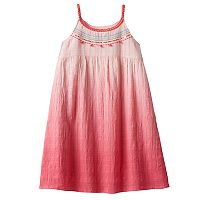 Girls 4-10 SONOMA Goods for Life™ Dip-Dye Textured Strappy Dress
