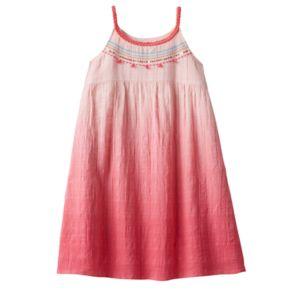 Girls 4-10 SONOMA Goods for Life™ Dip-Dye Textured Strappy Dress